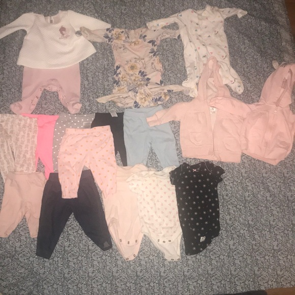 Carter's Other - Baby girl winter clothes lot 0-3months
